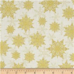 Holiday Magic Metallic Snowflakes Gold