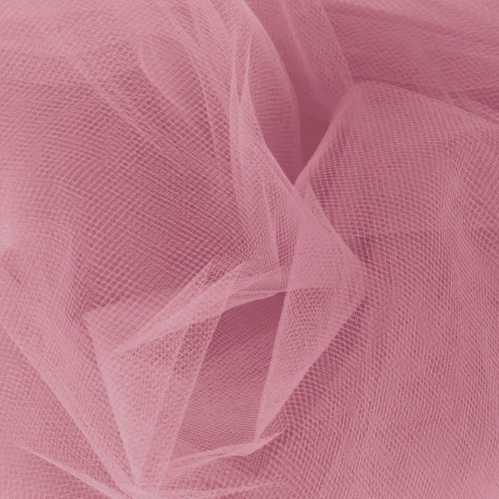 Image of 54'' Wide Tulle Dusty Rose Fabric