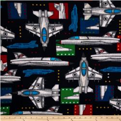 Boys Rock Fleece Jet Planes Navy