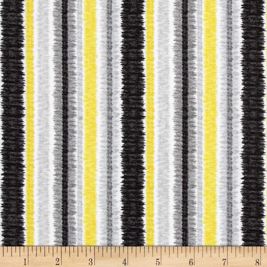 Contempo Cosmopolitan Ikat Stripe Yellow