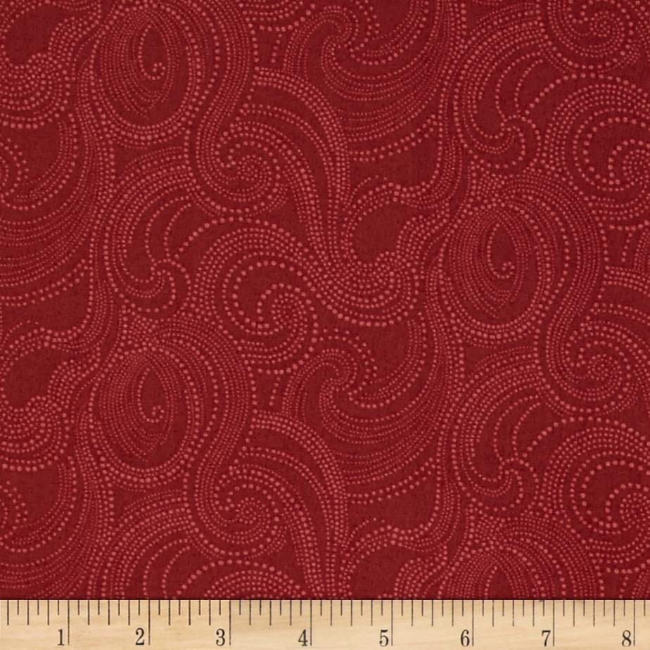 Imperial Dotted Scroll Cranberry