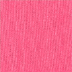 Stretch Bondi Denim Bright Pink Fabric