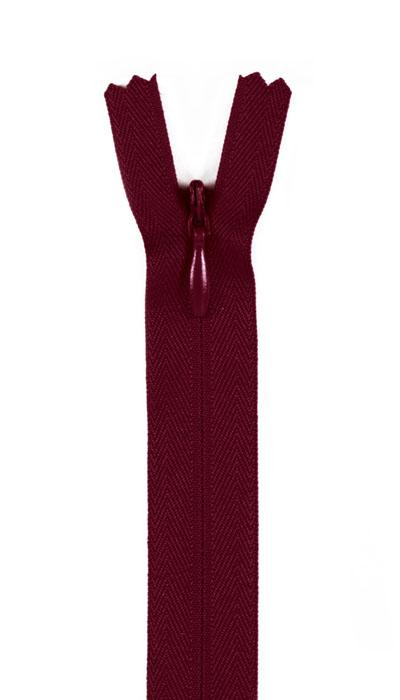 """7/9"""" Poly Invisible Zipper Maroon"""