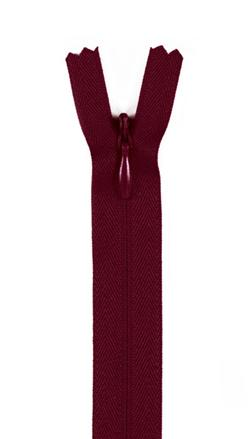 7/9'' Poly Invisible Zipper Maroon