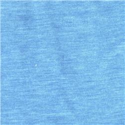 Cotton Poly Blend Jersey Knit Heather Light Blue