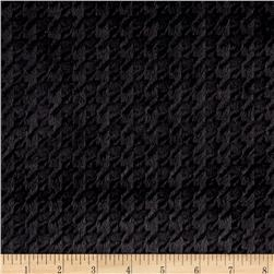 Minky Embossed Houndstooth Black