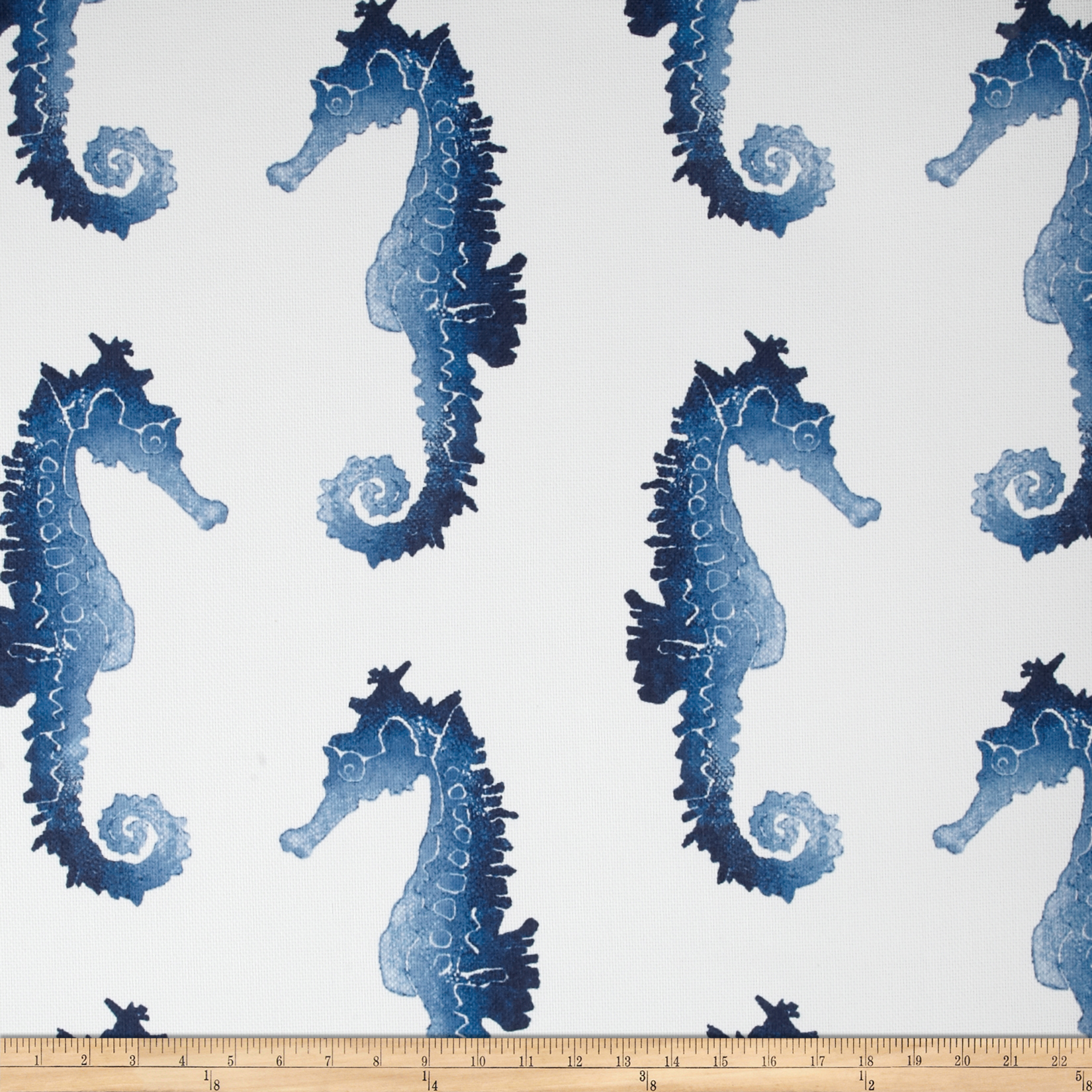 P Kaufmann Indoor/Outdoor Seahorse Blue Marine Fabric