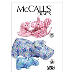 McCall's Hippo and Elephant In 2 Sizes Pattern
