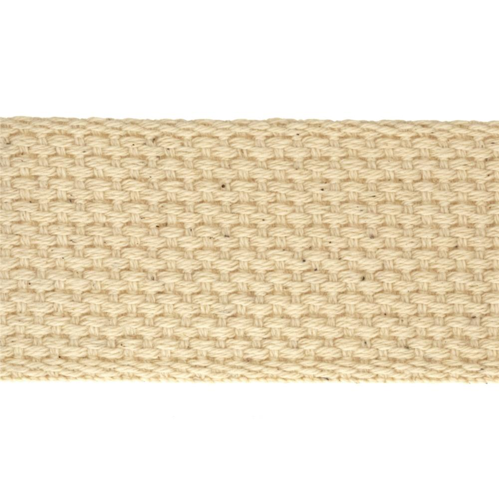 1-1/2'' Cotton Webbing Natural - By the Yard