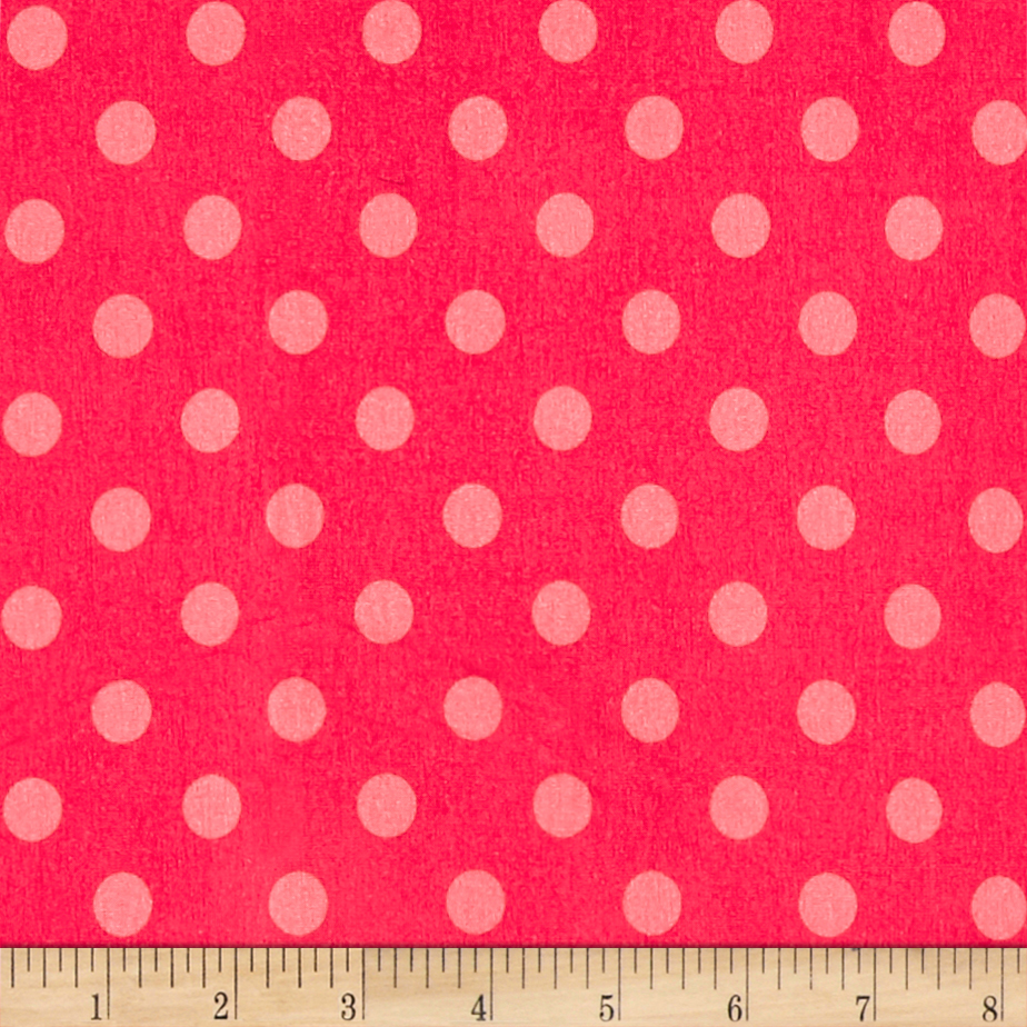 Avalana Jersey Knit Dot Pink Fabric by Stardom Specialty in USA