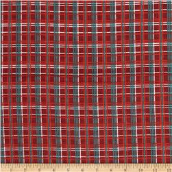 Fall Town Flannel Plaid Red