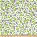 Robert Kaufman Cozy Cotton Flannel Flowers & Leaves Lilac