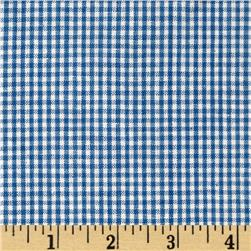 Homespun Yarn Dyed Gingham Shirting Blue/White
