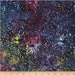 Island Batik Quilted in Honor Batik Fireworks Multi