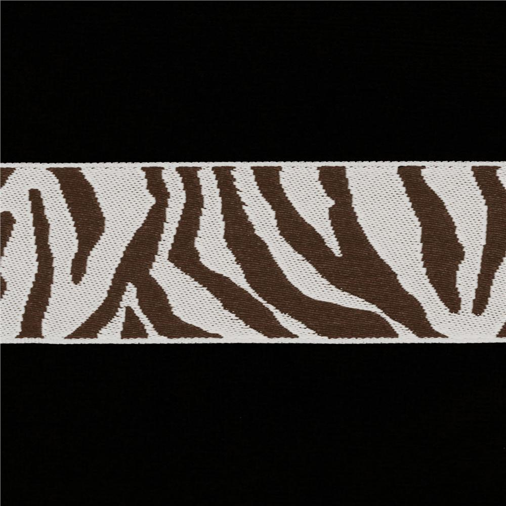 1 1/2'' Ribbon Zebra Brown/Silver