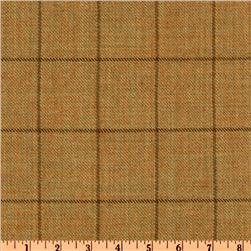 Wool Suiting Blocks Tan/Brown