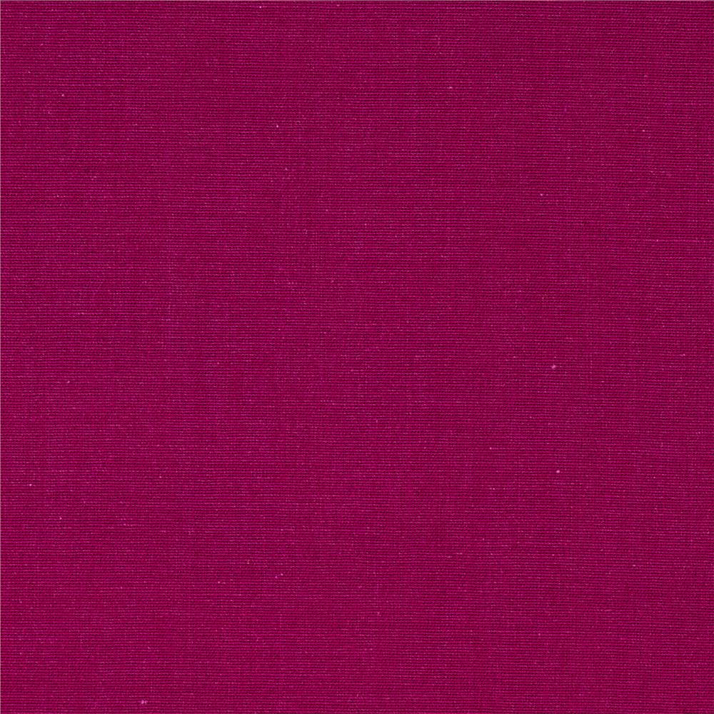 Kaufman Greenwich Chambray Magenta