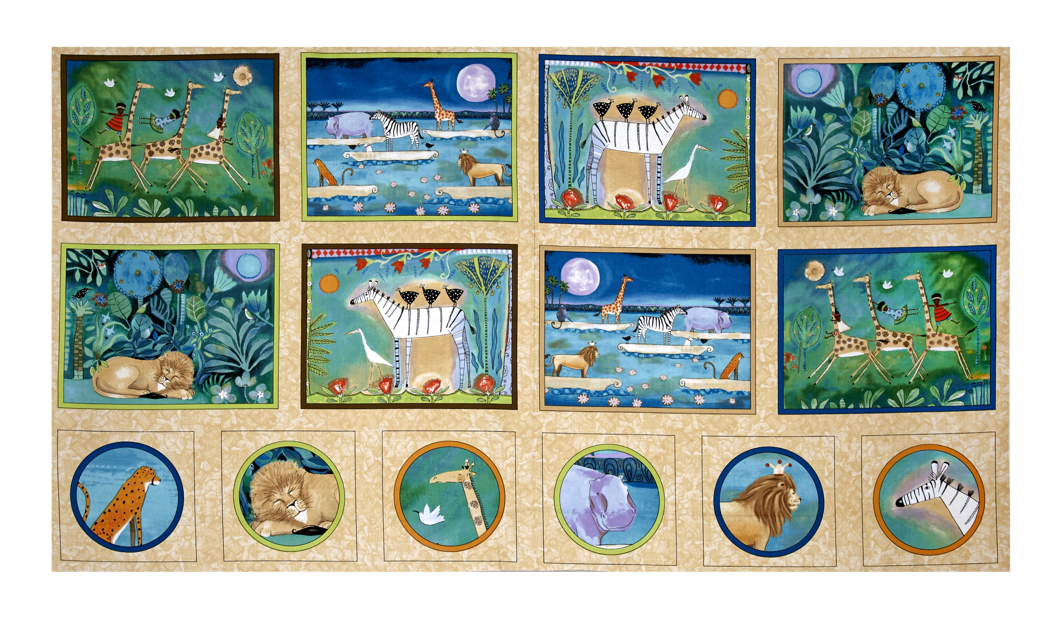 The Migration Animal Patches Multi Fabric by Quilting Treasures in USA