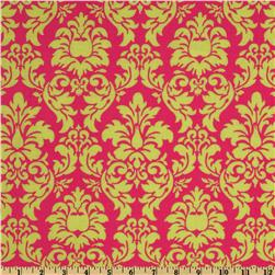 Michael Miller Dandy Damask Sorbet Watermelon Pink Fabric