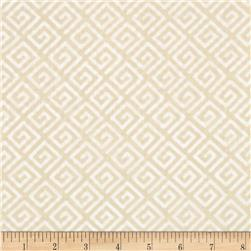 "108"" Wide Quilt Back Greek Key Cream"