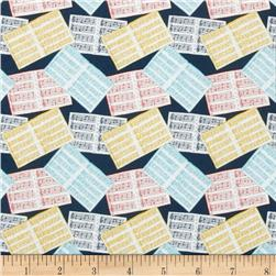 Fabric Freedom A Musical Affair Musical Sheets Navy
