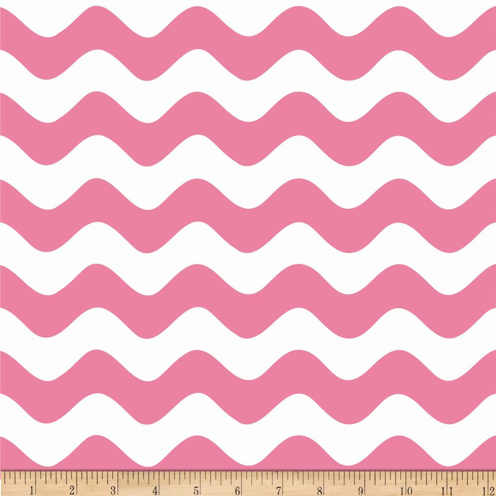 Riley Blake Wave Hot Pink