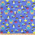 Flannel Owls Blue