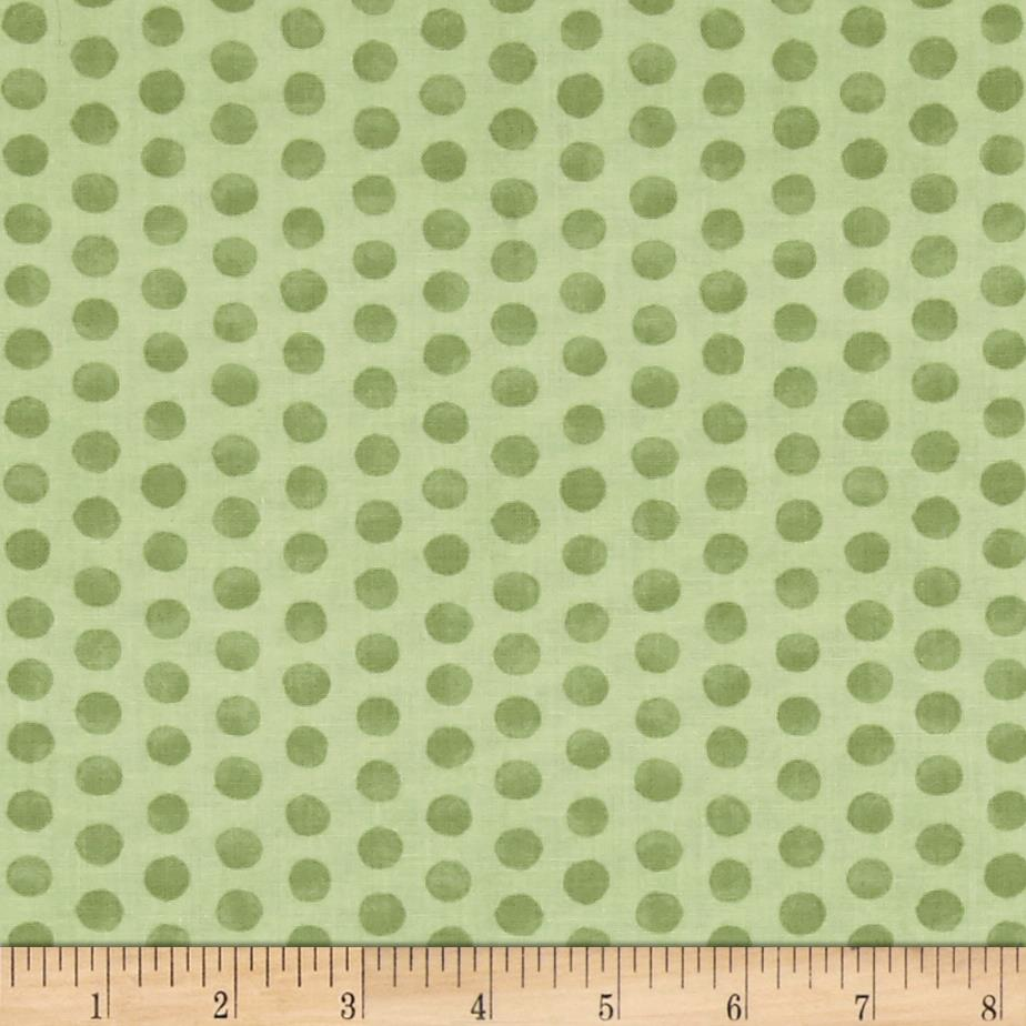 Kaufman Fawns & Friends Dots Green