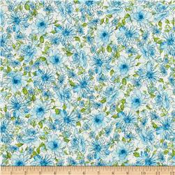 Kaufman Garden Splendor Medium Flower Blue