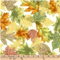 Kaufman Shades of the Season Metallic Scatter Autumn
