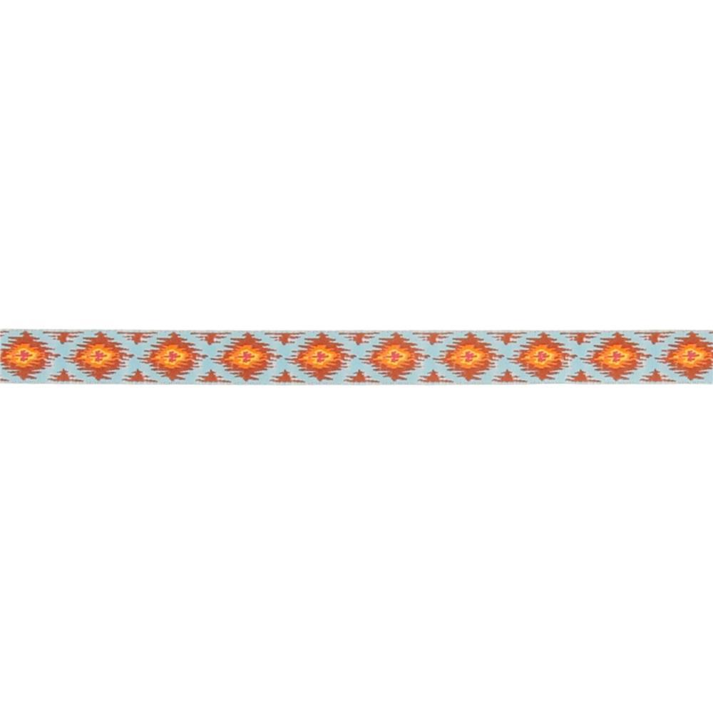 "5/8"" Dena Designs Ikat Ribbon Blue"