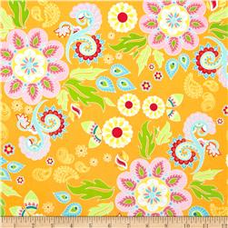 Riley Blake Madhuri Large Floral Orange