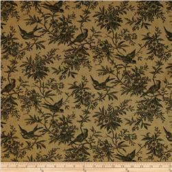 Cumberland Chambray Bird Toille Brown