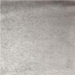 Fabricut 03344 Metallic Faux Leather Pewter