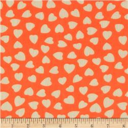 Yoryu Chiffon Hearts Neon Orange