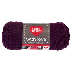 Red Heart Yarn With Love 1541 Grape Jam