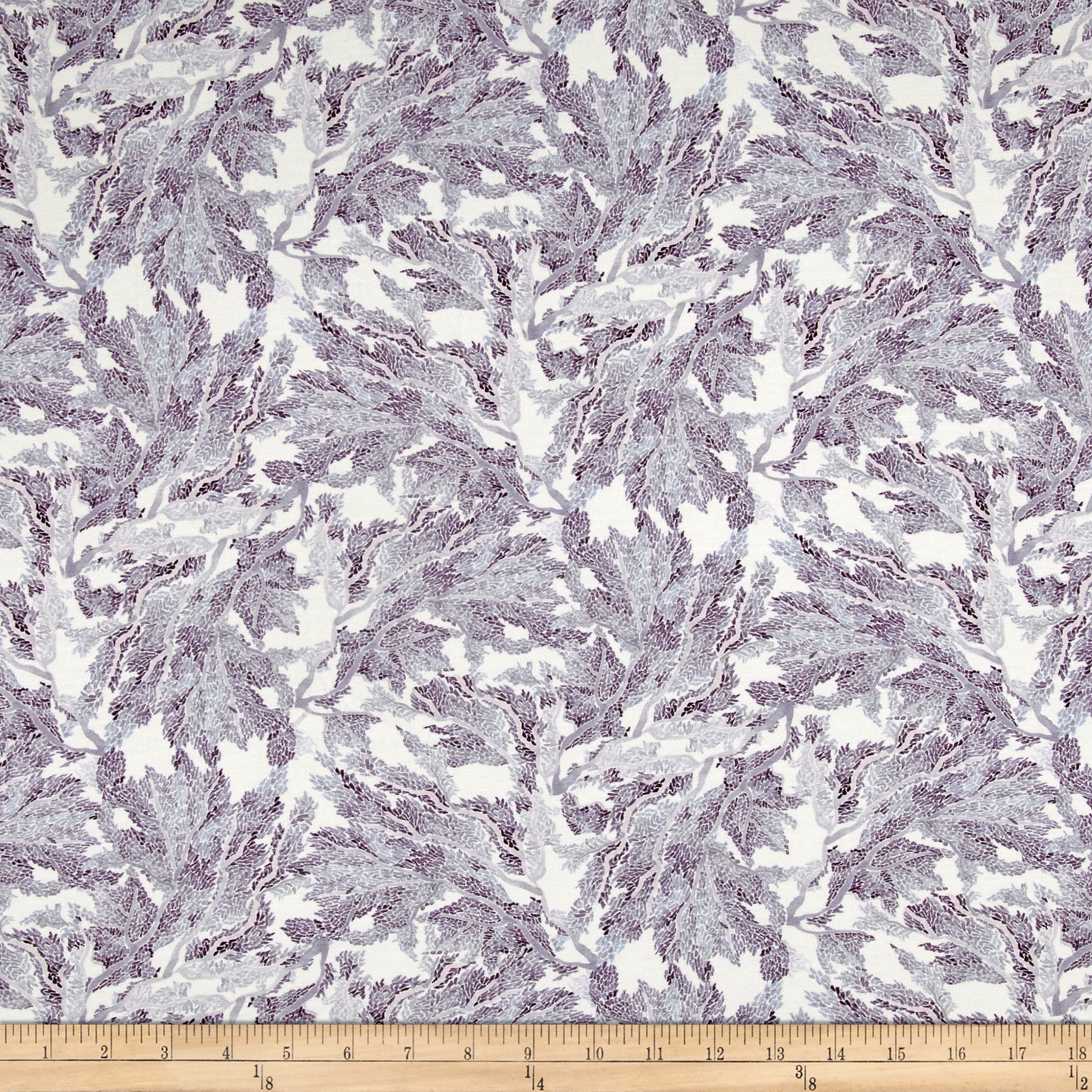 Liberty of London Dufour Jersey Knit Marine Purple Fabric by Liberty Of London in USA
