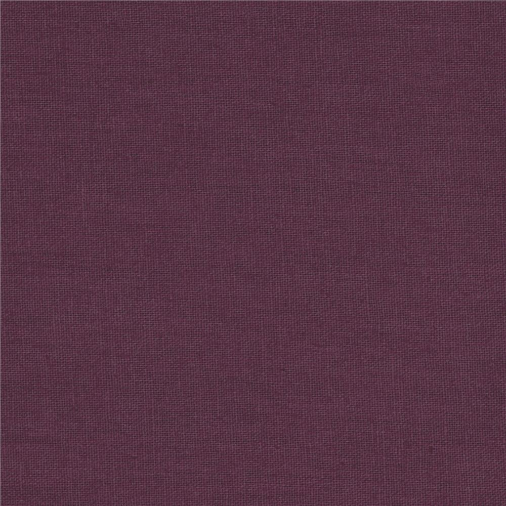 Kaufman Essex Linen Blend Plum Fabric By The Yard
