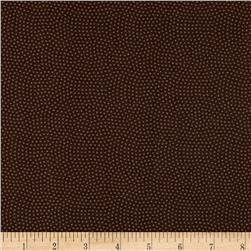 Timeless Treasures Spin Dot Brown