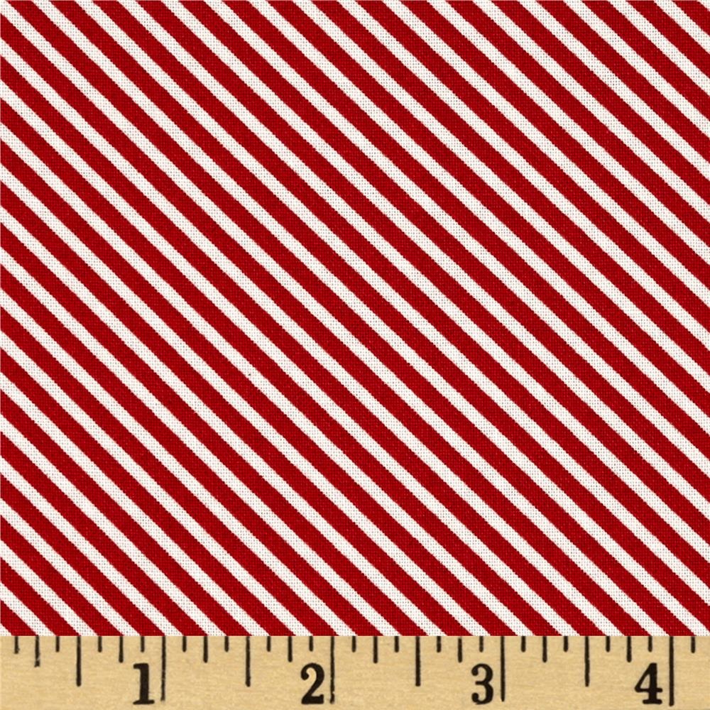 Moda First Crush Sweet Stripes Apple/Red