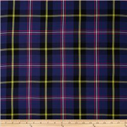 Designer Rayon Challis Plaid Purple/Pink