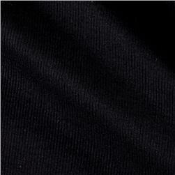 Rib 2x1 Knit Solid True Black