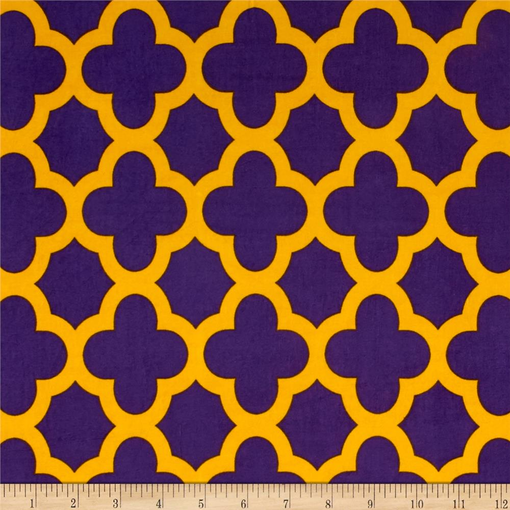 ITY Knit Quatrefoil Print Purple/Gold