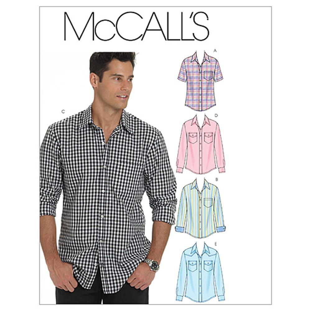 McCall's Men's Shirts Pattern M6044 Size XM0