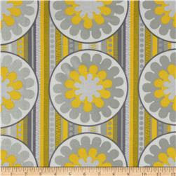 Zest Pearlescent Lemon Burst Yellow Fabric