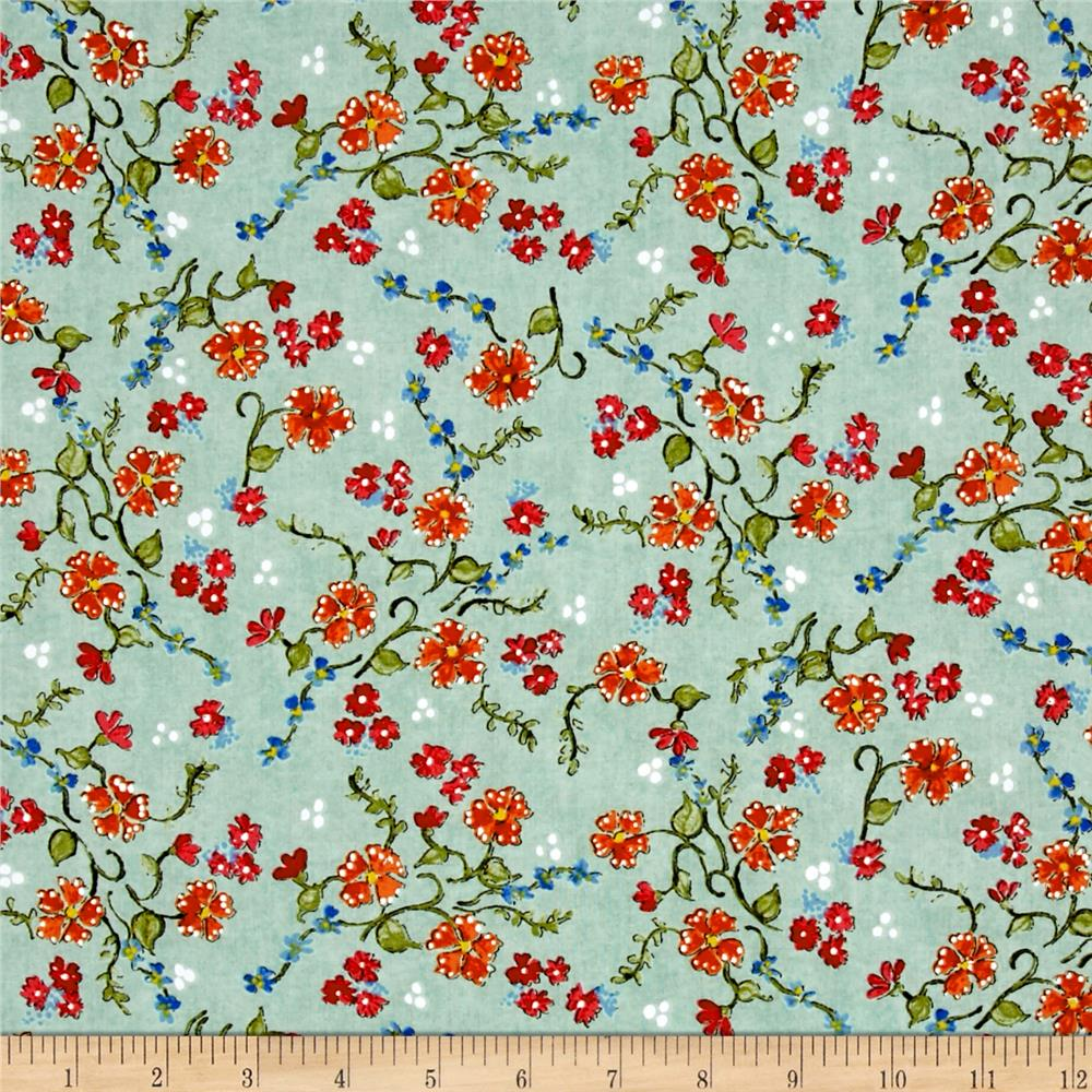 Paris Panache Floral Green/Multi