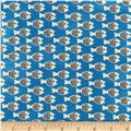 Cotton + Steel Christian Robinson Spectacle Fish Friends Blue
