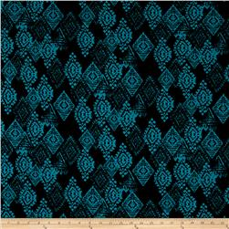 Urban Chic Geo Diamond Stretch ITY Knit Black/Jade
