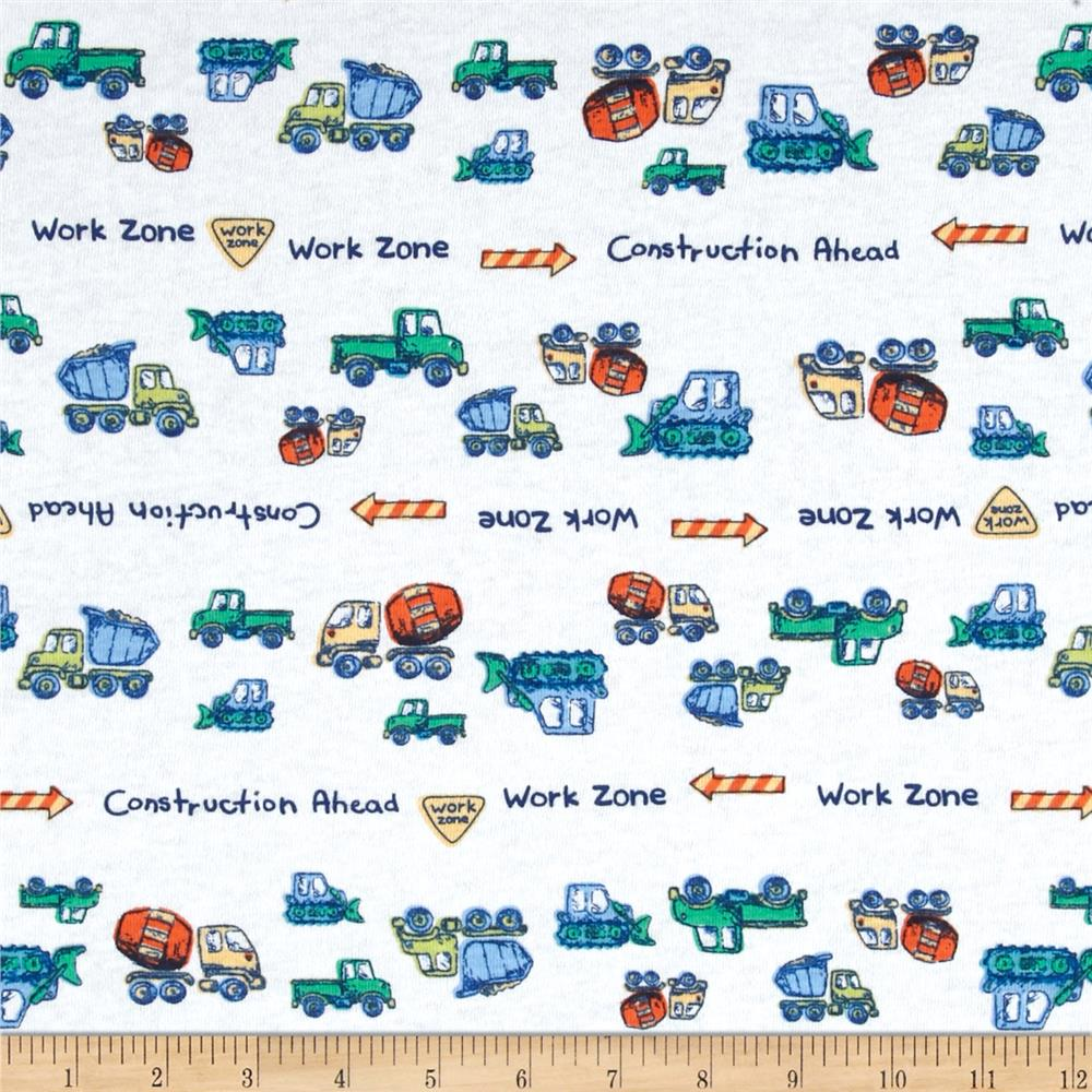Juvenile Cotton Knits Trucks Multi