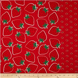 Seven Islands Strawberry Border Print Red